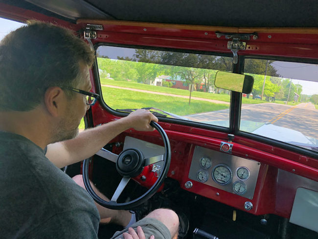Thanks to Rick and Paulette for letting us take their Jeepster for a spin!