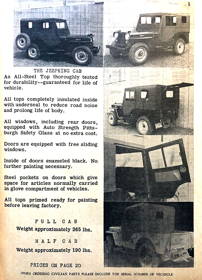 Military Jeep Willys MB GPW Halftrack Scout car Dodge M37 WC 70