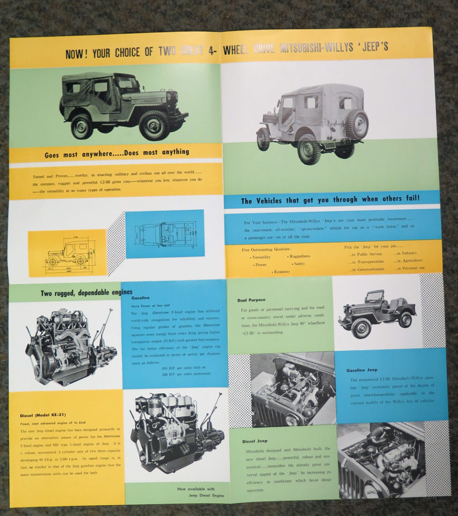 Advertising Brochures Ewillys 61 Willys Utility Wagon Wiring Diagram 1961 Cj3b Mitsubishi Brochure2