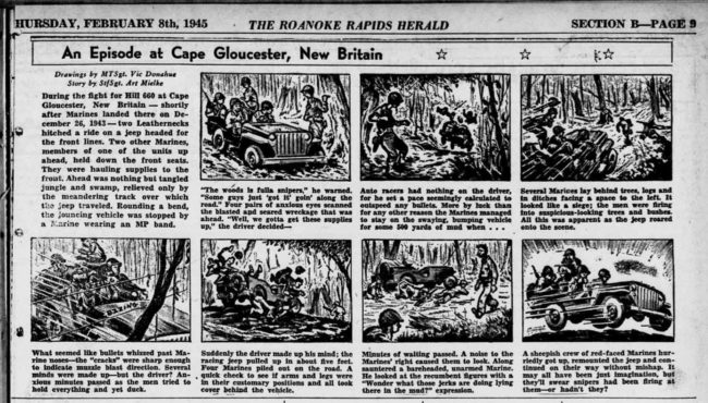 1945-02-08-roanoke-rapids-herald-incident-cape-gloucester-cartoon