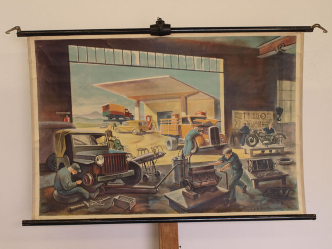 mural-jeep-garage-germany-ebay