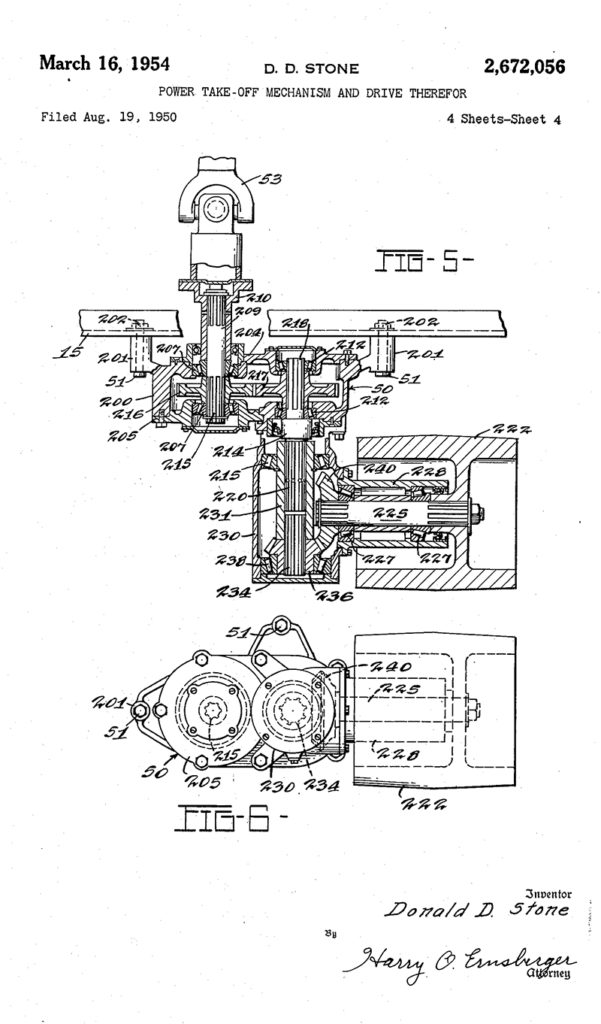 Power Take Off Mechanism And Drive Patent