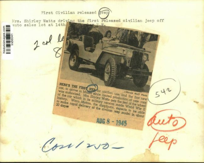 1945-08-08-shirley-watts-first-jeep2