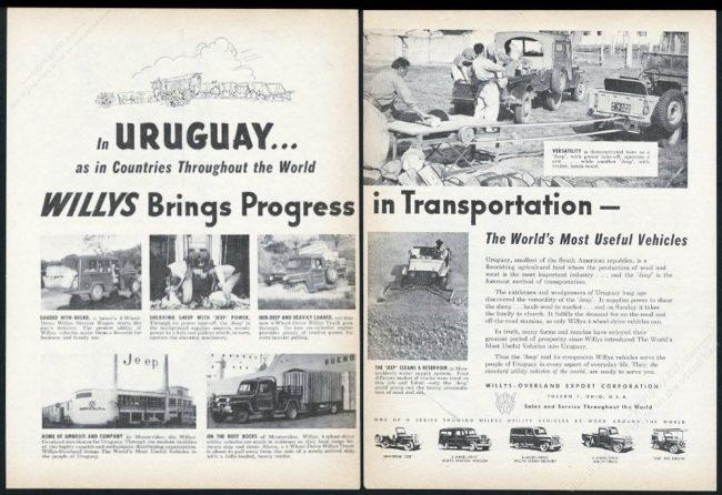 1954-2-page-print-ad-uruguay-progress