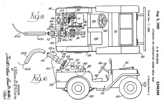 1955-12-07-barb-wire-distribution-patent1