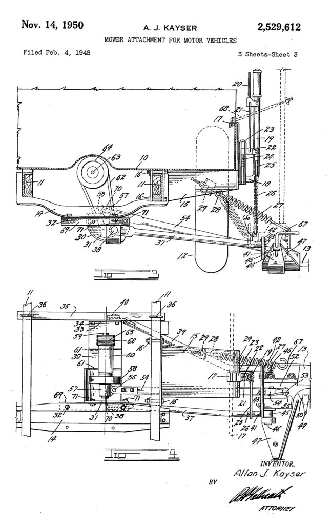 1948-02-04-kayser-mower-patent-k-and-k2