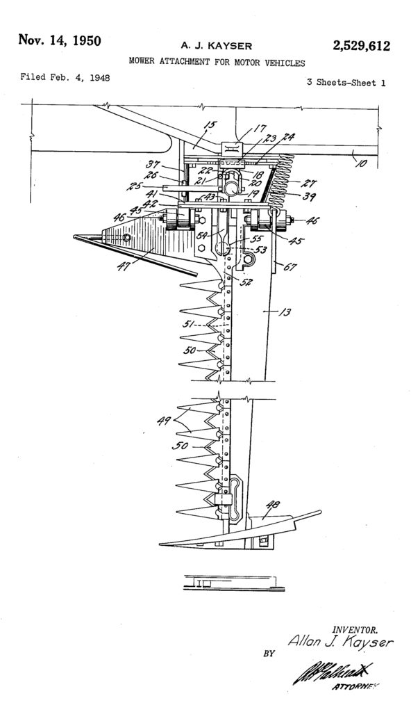 1948-02-04-kayser-mower-patent-k-and-k3