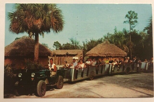 africa-usa-jeep-train-postcard