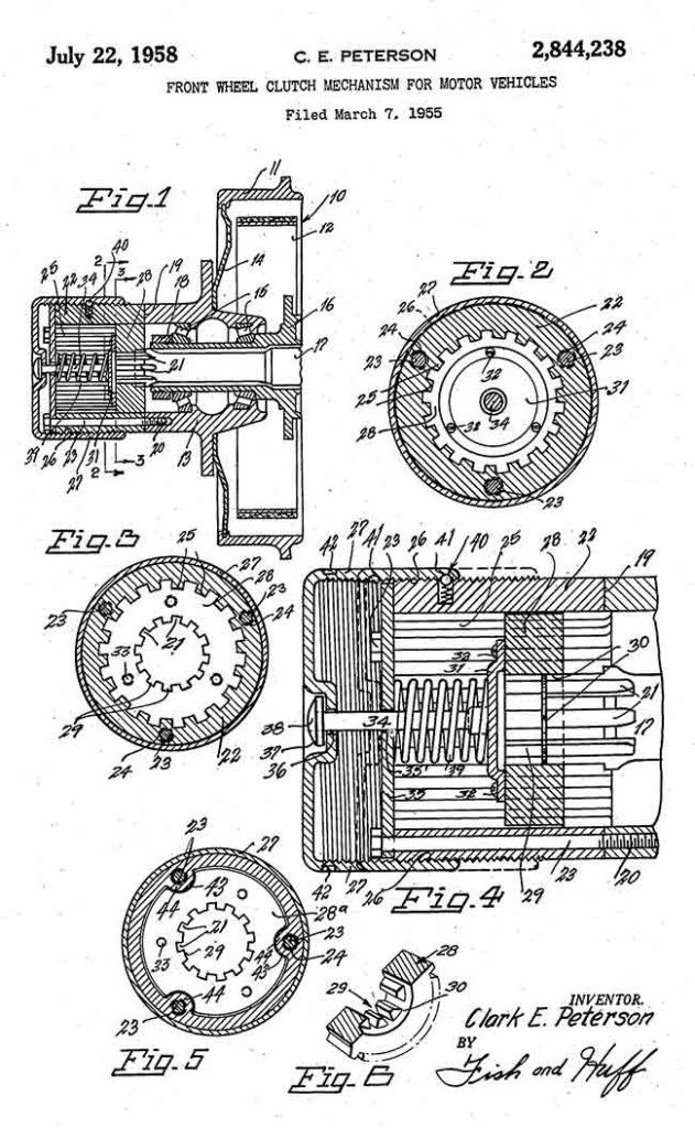 1958-07-22-clark-peterson-patent-husky-lores
