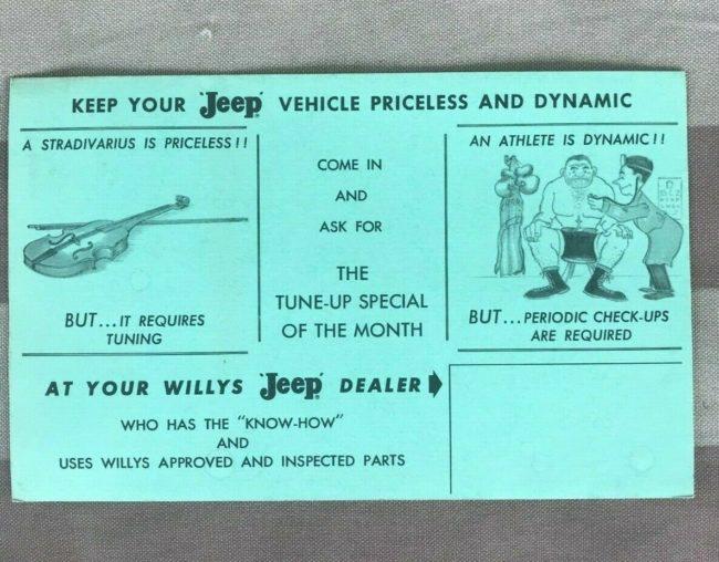 jeep-dealer-service-stradivarus-postcard