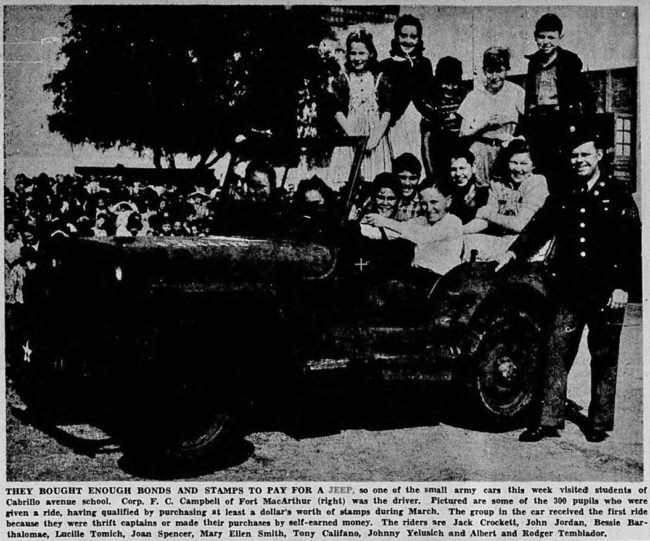 1943-03-27-sanpedronewspilot-cabrillo-schools-jeep1
