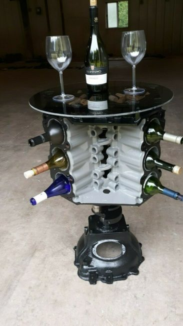 engine-wine-holder