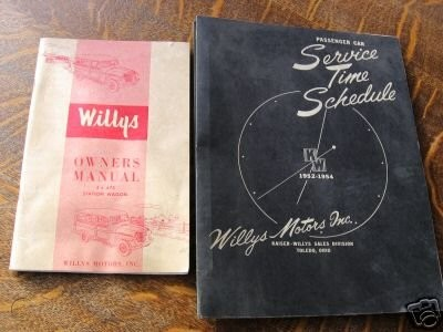 1954-vintage-willys-service-time-schedule-manual