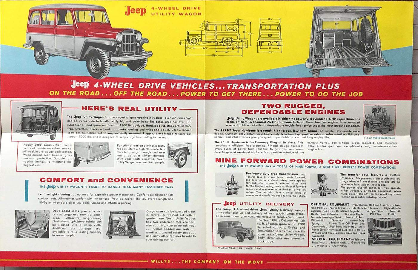 1955 WILLYS CJ-5 JEEP 4-WHEEL DRIVE ORIGINAL BROCHURE 55 CATALOG W-239-5 ?
