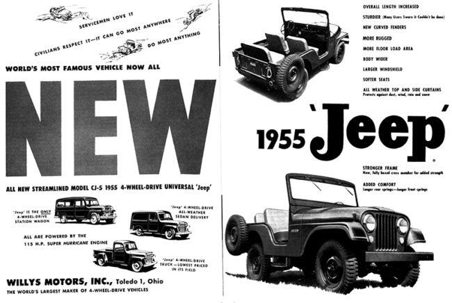 1955-01-08-sat-eve-post-new-1955-cj5-ad-pg66-67-lores
