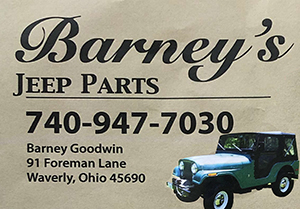 Barney's Jeep Parts