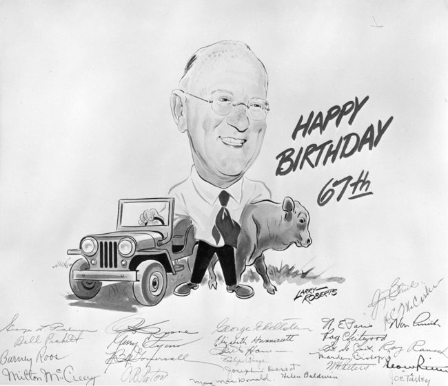 1952-01-01-Toledo-university-Ward-Canaday-brithday-card