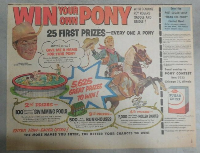 1954-win-a-pony-roy-rogers-contest