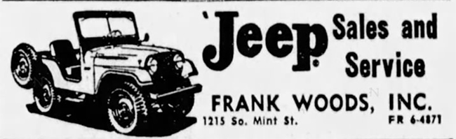 1960-03-22-the-charlotte-observer-frank-woods-ad
