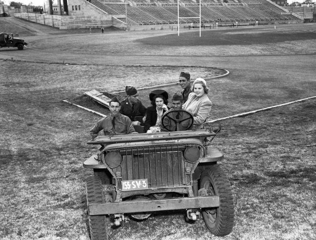 Fort Worth Star-Telegram Collection, University of Texas at Arlington Libraries. Army Day Maneuvers: Rides in Dixie Jeeps. (1942). Retrieved from https://library.uta.edu/digitalgallery-beta/img/20053248