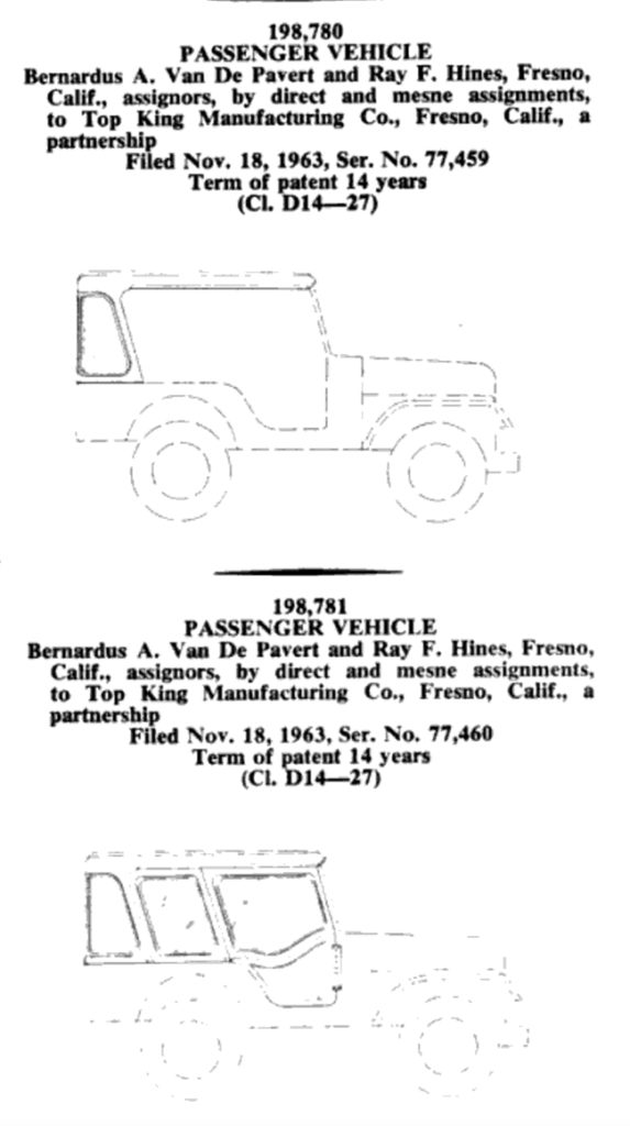 1963-design-patents-jeep-top-king