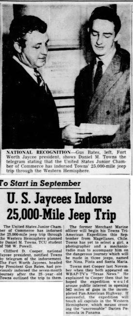 1950-02-14-fort-worth-star-telegram-jeep-trip-SA-to-Alaska