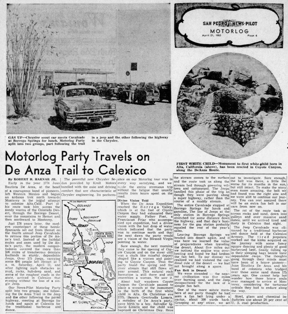 1953-04-21-san-pedro-news-pilot-deanza-trail-trip1-lores