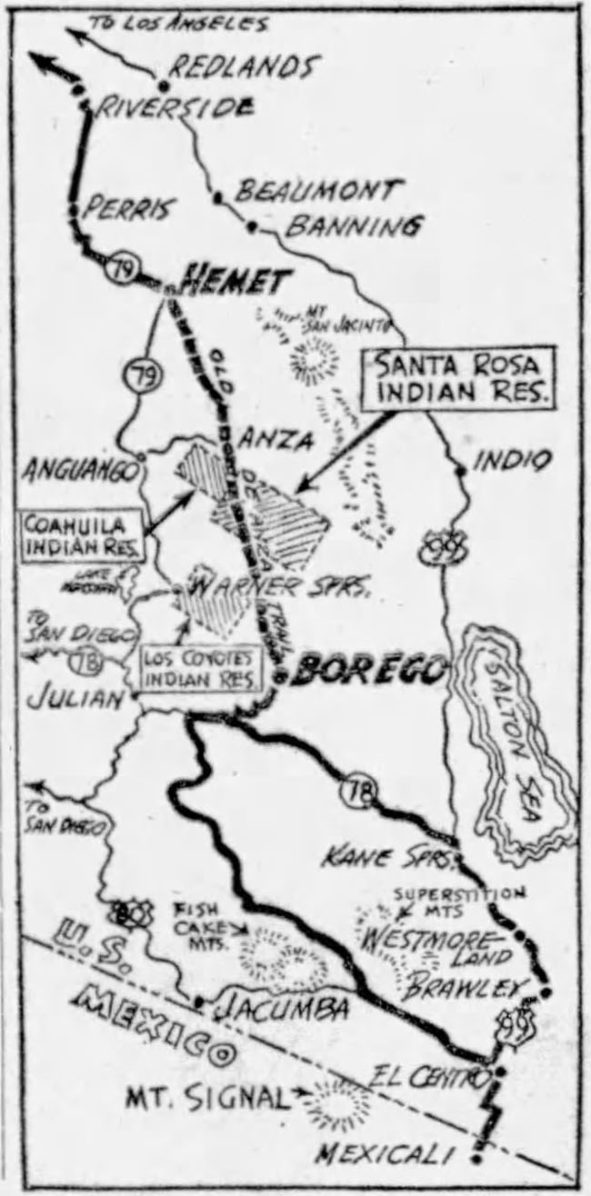 1953-04-21-san-pedro-news-pilot-deanza-trail-trip1-map