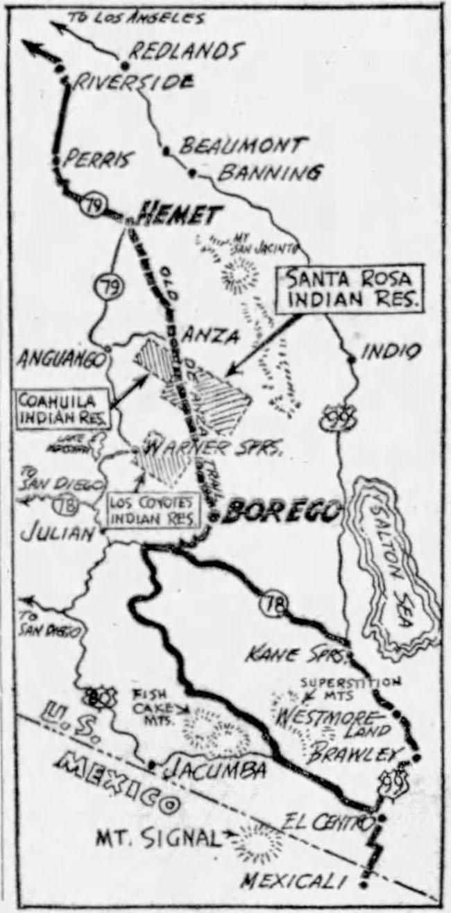 1953-04-21-san-pedro-news-pilot-deanza-trail-trip1-map
