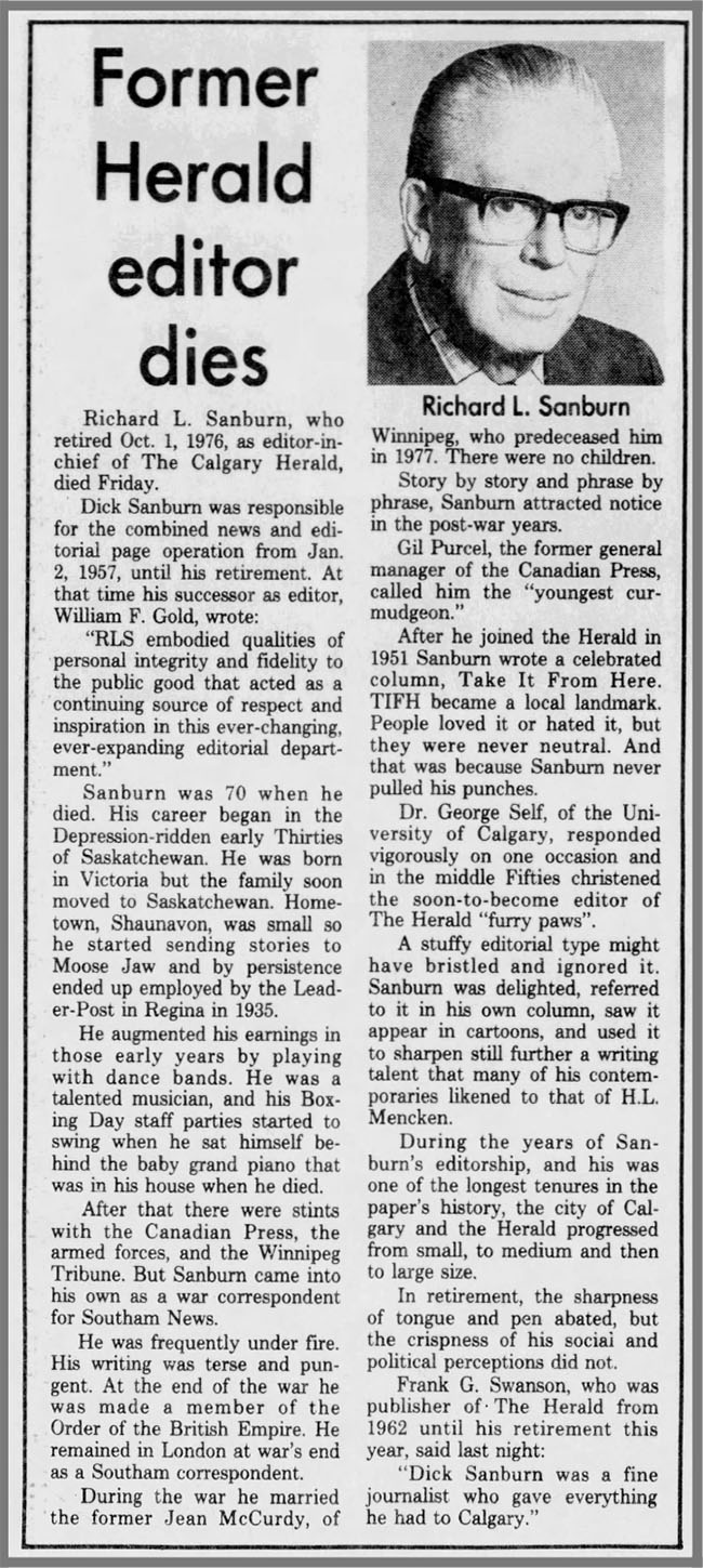 Richard L. Sanburn obit Calgary Herald 10-16-82 - Newspapers.com