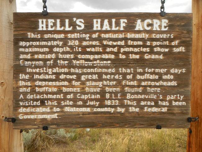 Hellís Half Acre Marker