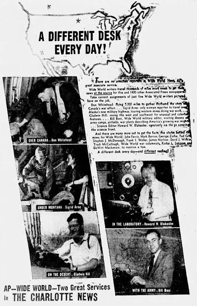 1942-07-29-charlotte-news-AP-reports-sigrid-arne-lores