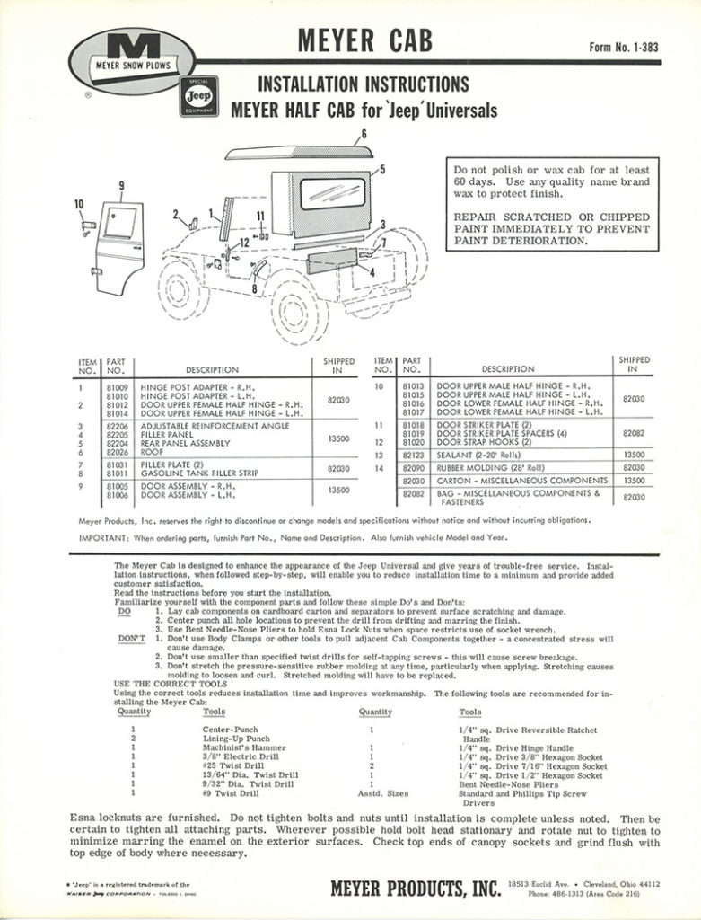1966-form-no-1-383R-meyer-half-cab-instructions1-lores