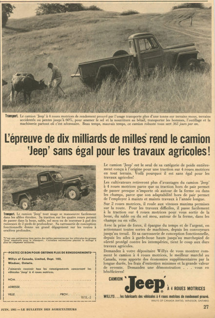 1961-06-le-bulletin-des-agriculteurs-willys-of-canada-truck-ad-lores