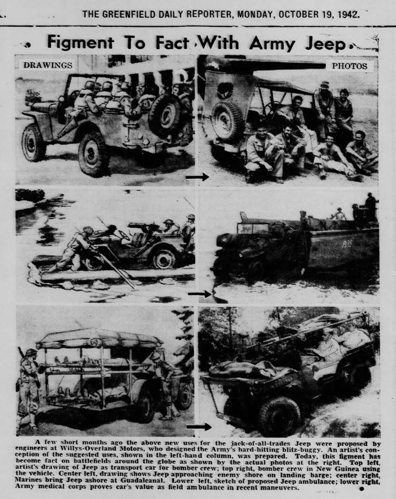 1942-10-19-daily-reporter-greenfield-in-jeep-drawings-vs-reality-lores
