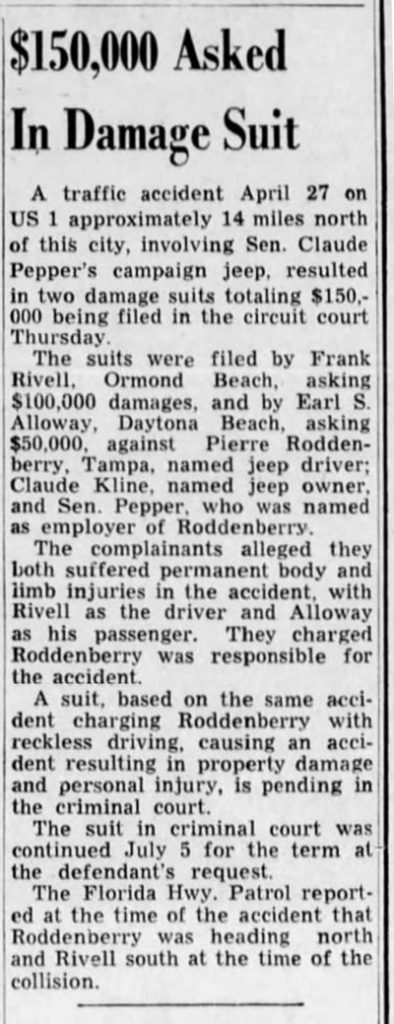 1950-08-04-palm-beach-Post-claude-pepper-accident