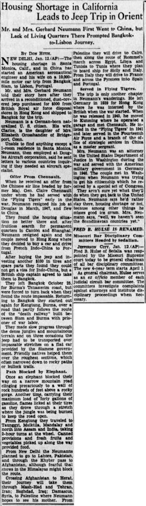 1948-01-13-kansascitytimes-jep-trip-gerhard-neuman